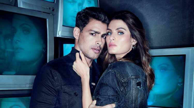Cauã Reymond and Isabeli Fontana pose in denim for Colcci fall-winter 2020 campaign