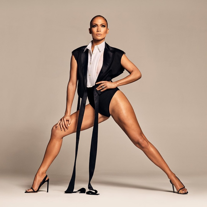 Flaunting her legs, Jennifer Lopez poses in JLo Jennifer Lopez spring-summer 2020 campaign