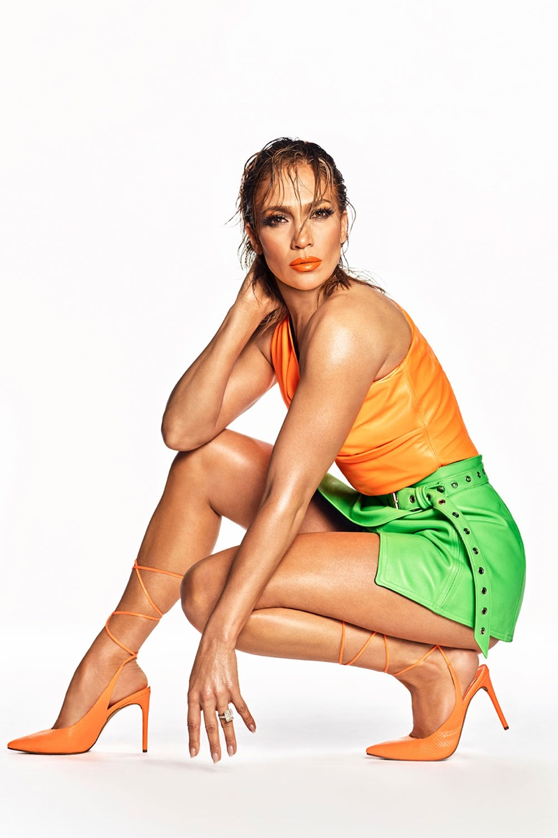 An image from JLo Jennifer Lopez's spring 2020 advertising campaign