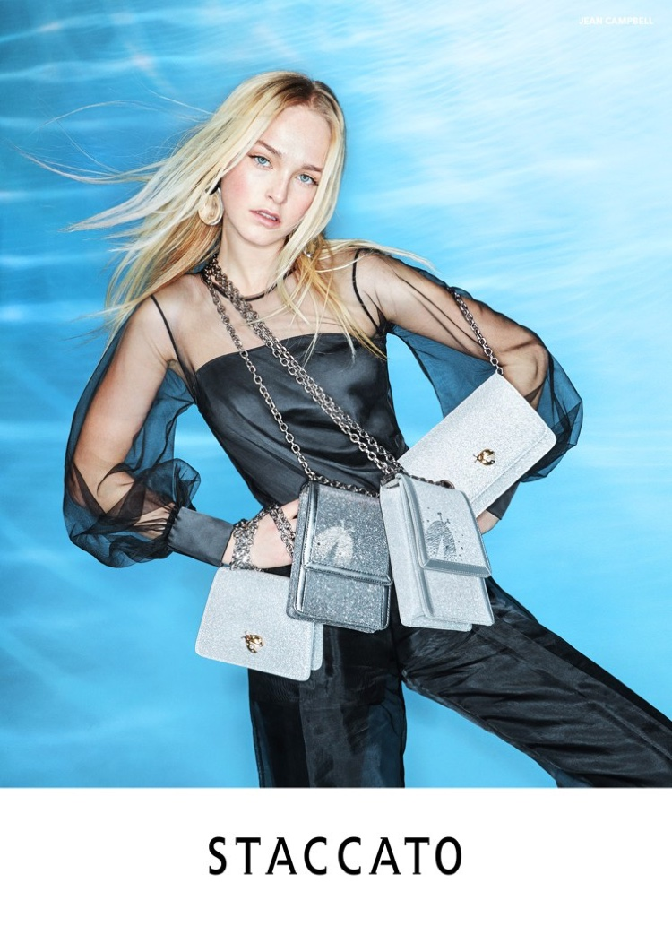Jean Campbell stars in Staccato spring-summer 2020 campaign