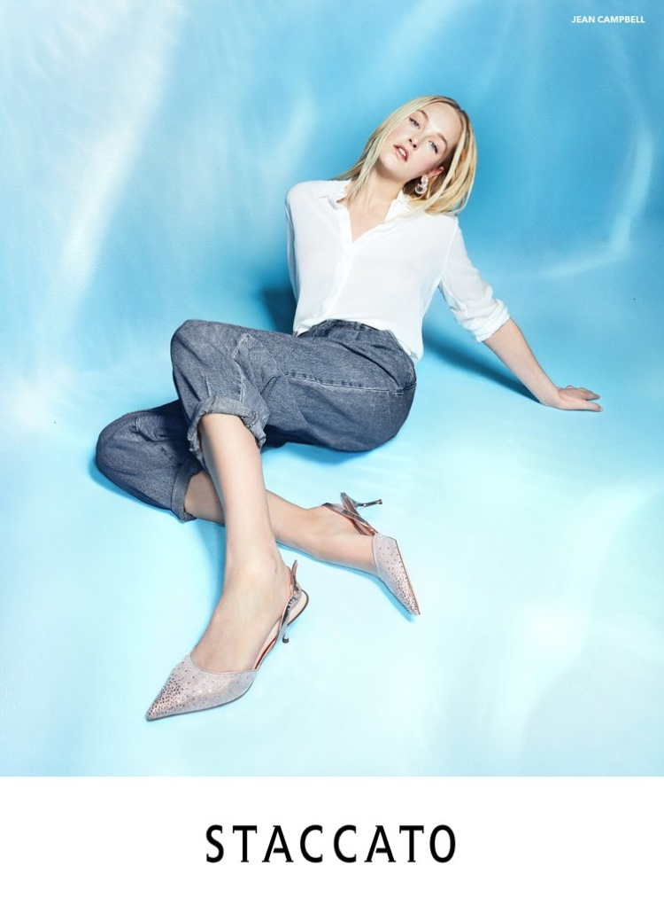 An image from Staccato's spring 2020 advertising campaign