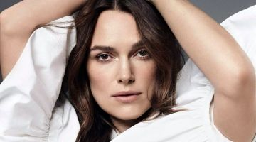 Ready for her closeup, Keira Knightley wears Valentino blouse