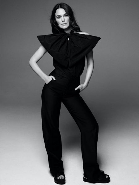 Keira Knightley Poses in Chic Monochrome Looks for PORTER Edit