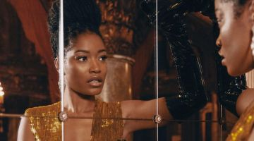 Keke Palmer glitters in Gucci dress and gloves with Bulgari earrings