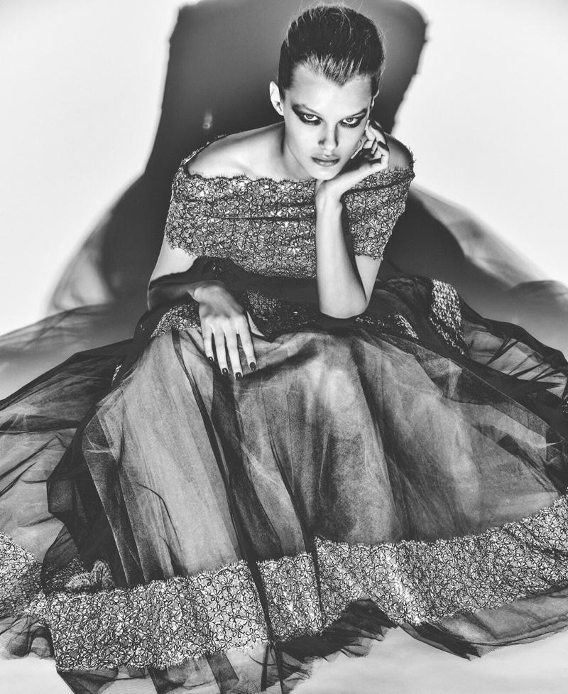 Kris Grikaite Models Chanel Haute Couture for T Singapore
