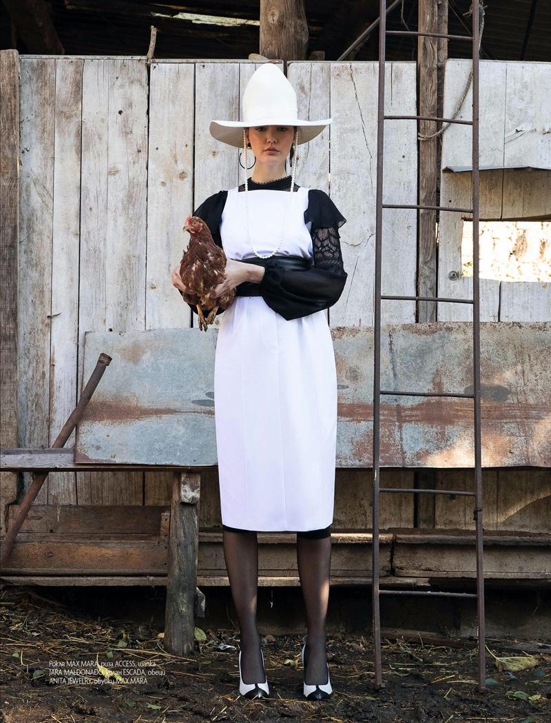 Laia Veiga Wears Farm Girl Looks for ELLE Bulgaria