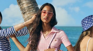 Mona Tougaard stars in Louis Vuitton LV Escale summer 2020 campaign