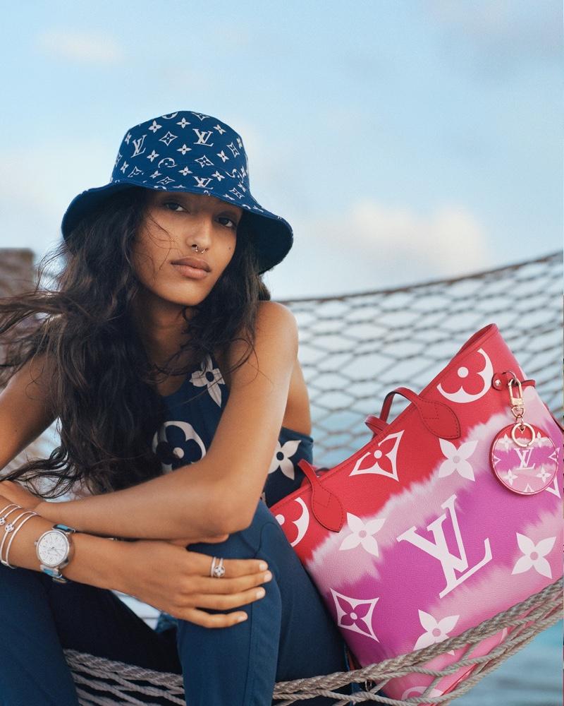 Model Mona Tougaard fronts Louis Vuitton LV Escale summer 2020 campaign