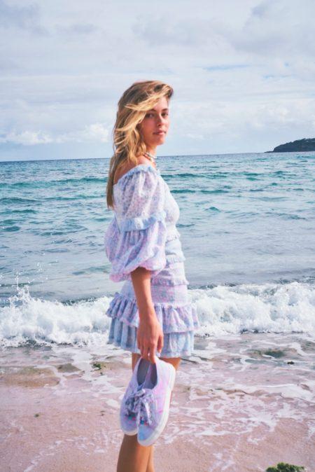 Caroline Kelley Keeps it Casual in LoveShackFancy x Superga