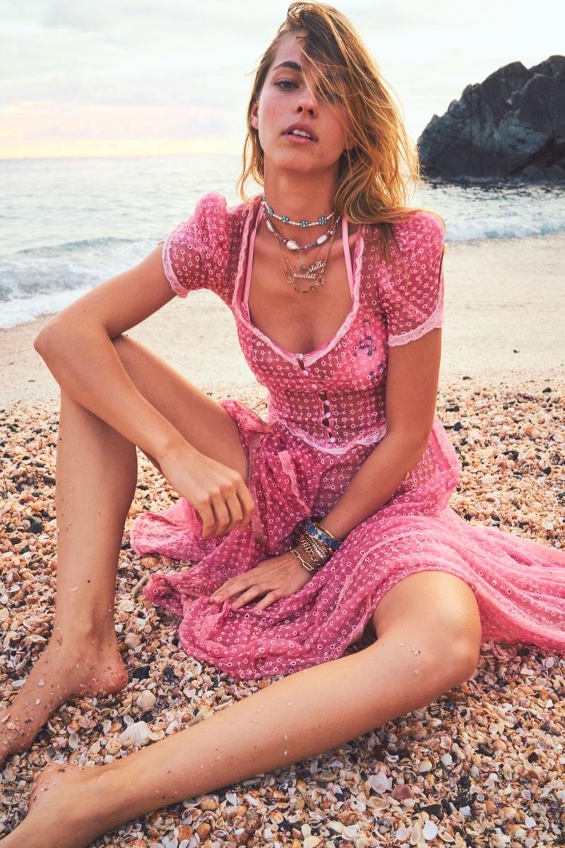 Model Caroline Kelley fronts LoveShackFancy x Superga lookbook