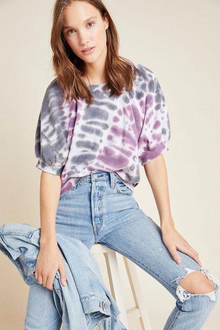 Maeve Sami Puff-Sleeved Sweatshirt $49.95