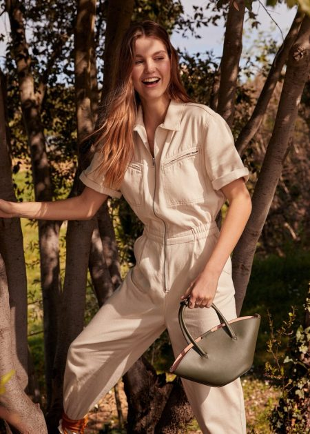 Luna Bijl stars in Mango Romantic Vibe spring-summer 2020 lookbook