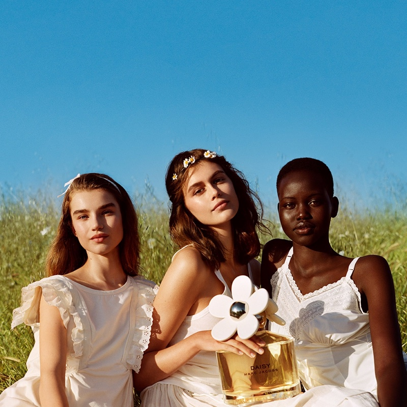 Marc Jacobs unveils Daisy Love fragrance campaign starring Megan Roche, Kaia Gerber and Adut Akech