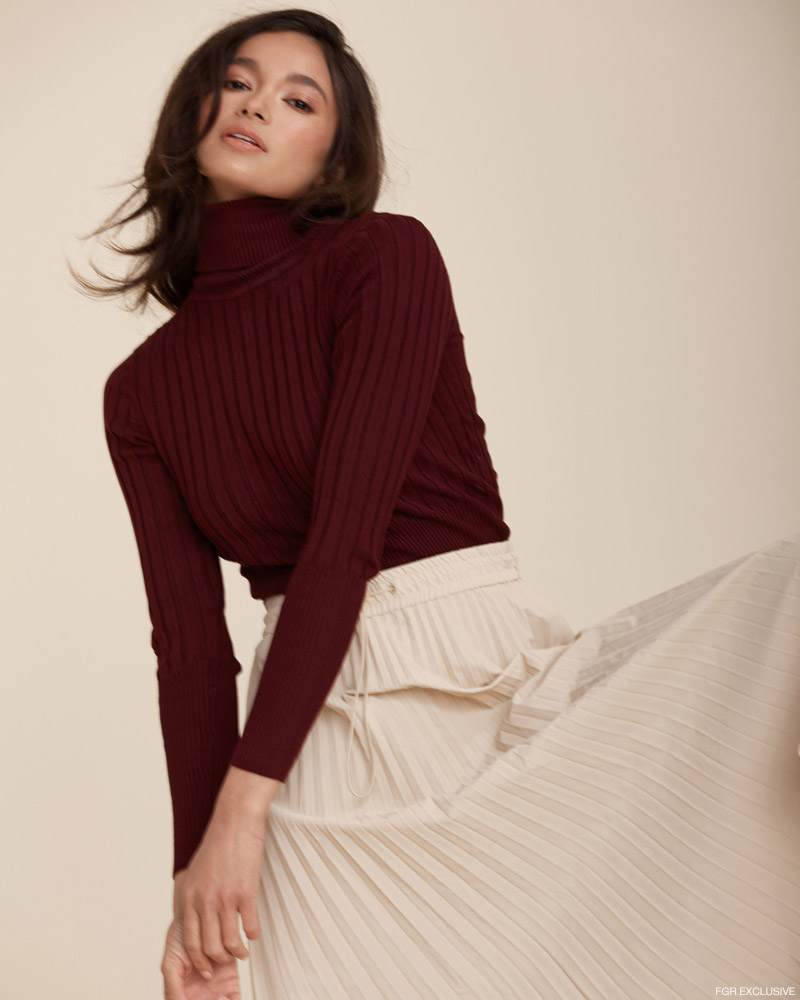 Turtleneck & Skirt Zara. Photo: Christopher Shintani