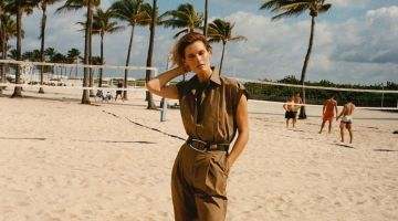 Malgosia Bela fronts Massimo Dutti Time After Sunset spring-summer 2020 editorial