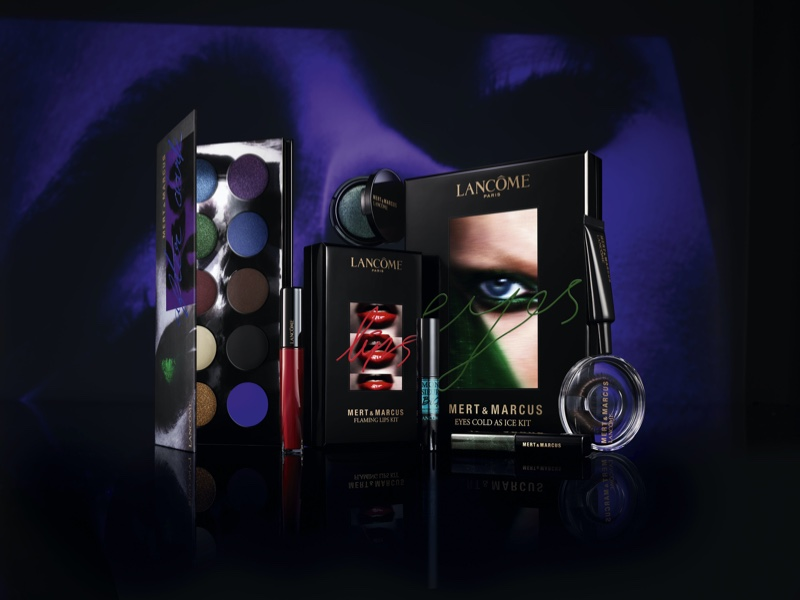 Products from the Mert & Marcus x Lancome collaboration