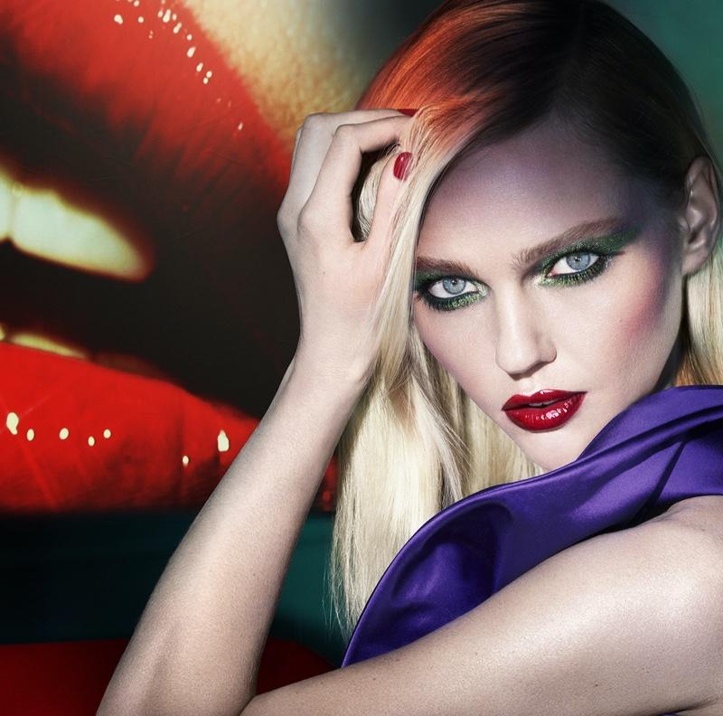 Sasha Pivovarova Smolders in Lancome x Mert & Marcus Makeup Ads