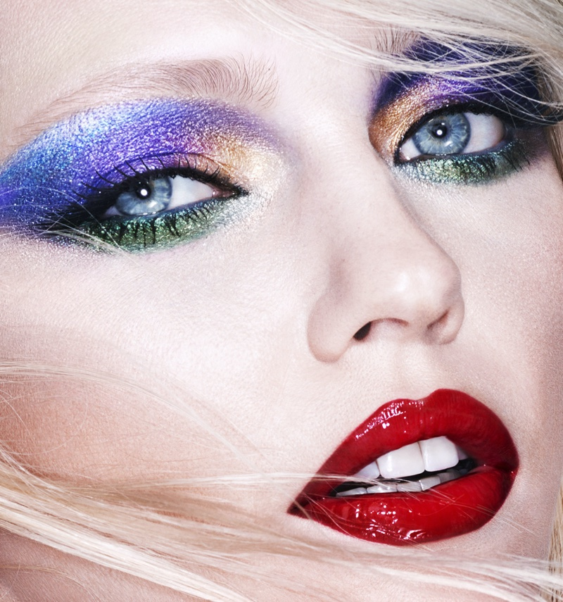 Model Sasha Pivovarova gets her closeup in Mert & Marcus x Lancome makeup campaign