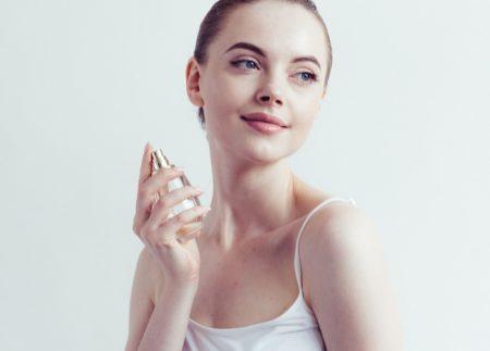 Model Fragrance Perfume Bottle Clean Beauty