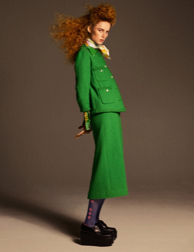 Rianne van Rompaey Poses in Tailored Fashions for W Magazine