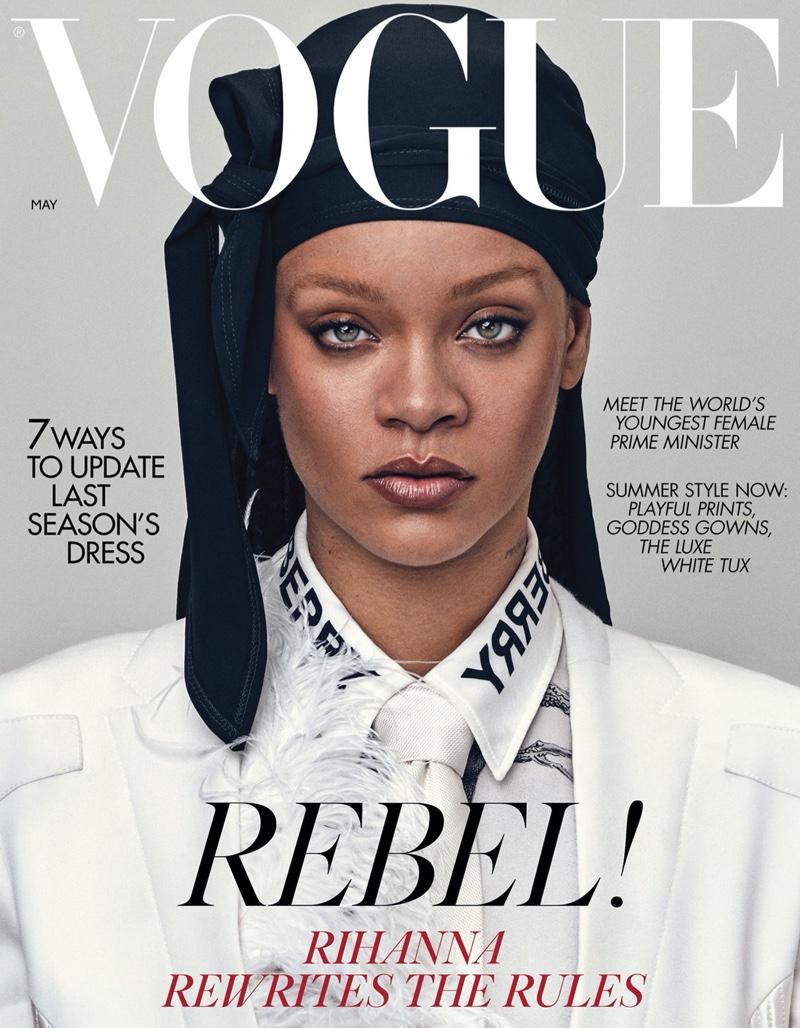 Rihanna on Vogue UK May 2020 Cover