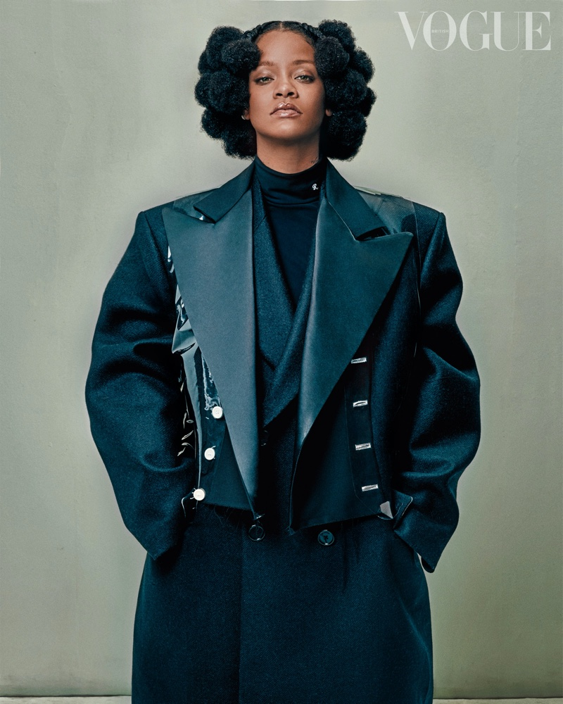 Rihanna suits up in a Raf Simons look