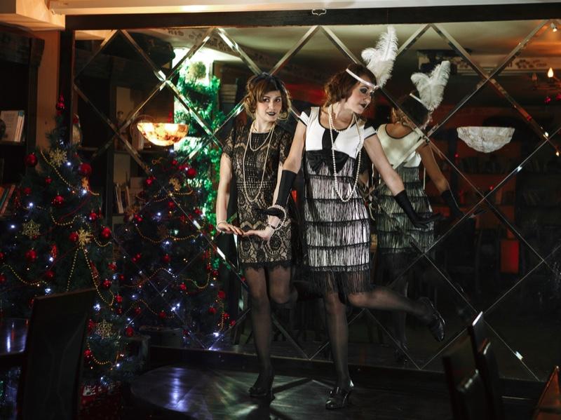 Roaring Twenties Party Fringe Flapper Dresses Women