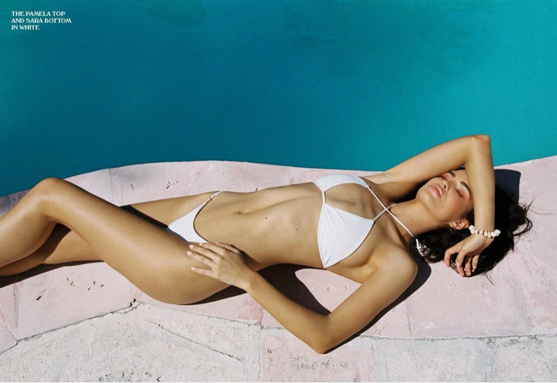 Model Robin Holzken soaks up the sun in Frankies Bikinis spring-summer 2020 lookbook