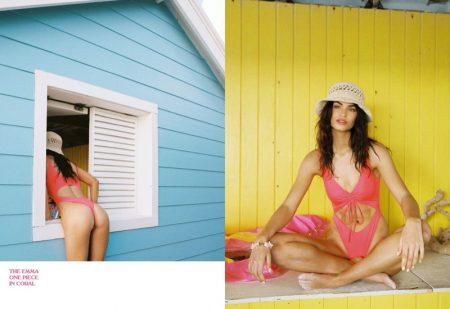 Robin Holzken Chases the Sun for Frankies Bikinis Spring 2020