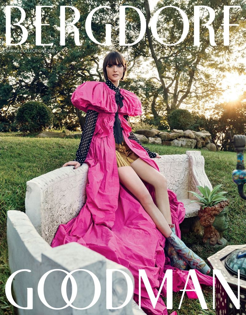 Sam Rollinson Models Opulent Designs for Bergdorf Goodman