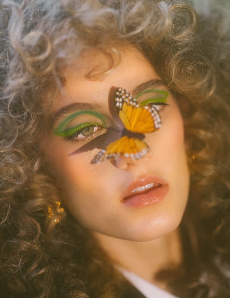 Sarah Berger Gets Wild in Dolce & Gabbana for ELLE Mexico
