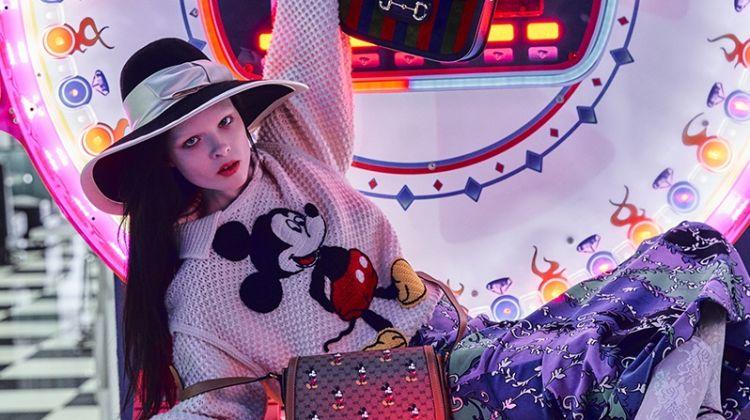 Sedona Legge Strikes a Pose in Gucci x Disney for Haute Living