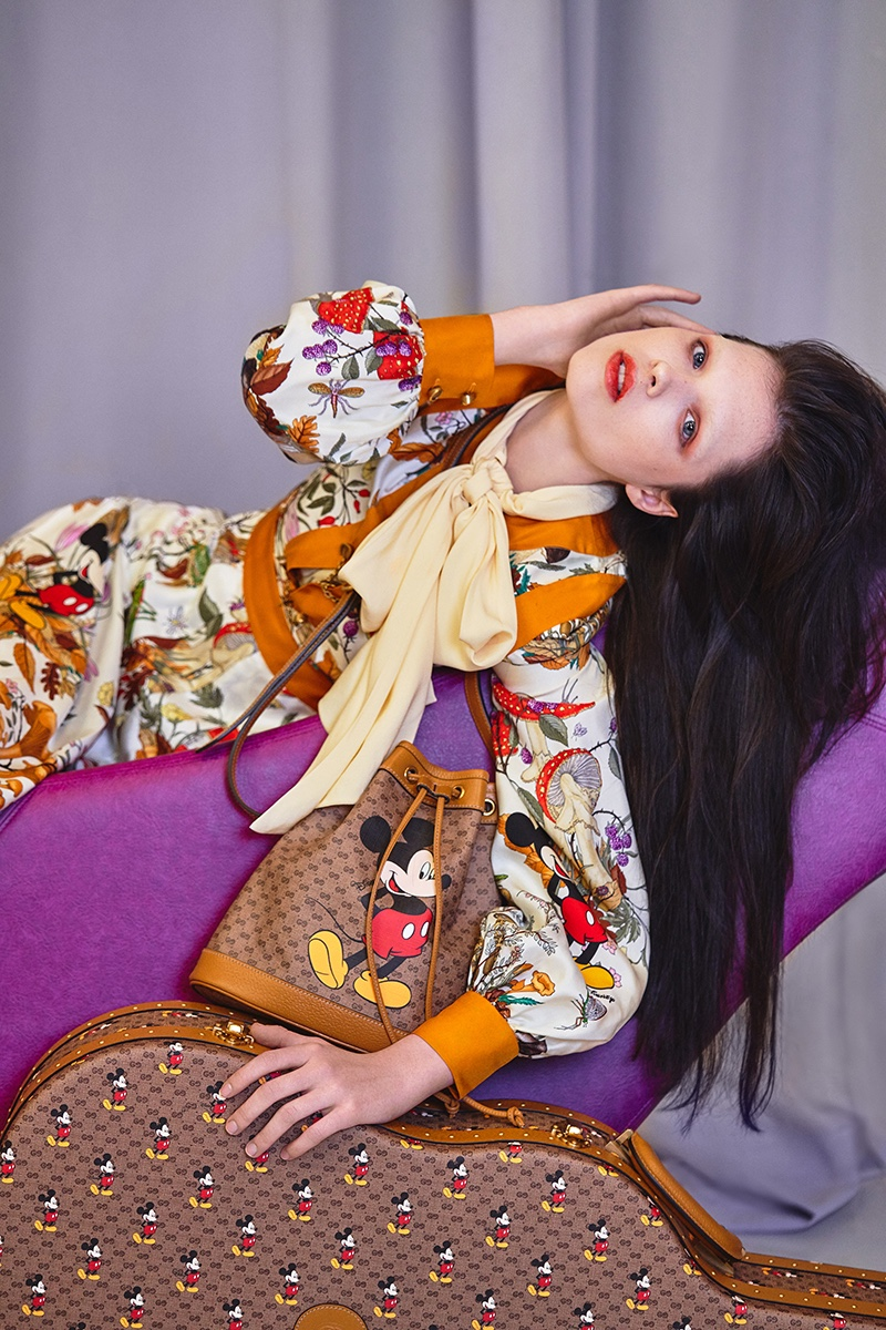 Sedona Legge Strikes a Pose in Gucci x Disney for Haute Living