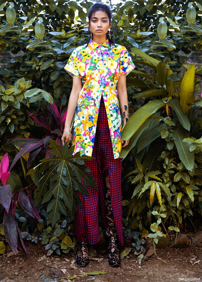 Shirt Dress Aniket Satam, Pants Madison, Earring & Hand Cuff Color Chemistry and Shoes Hogwash. Photo: Kay Sukumar