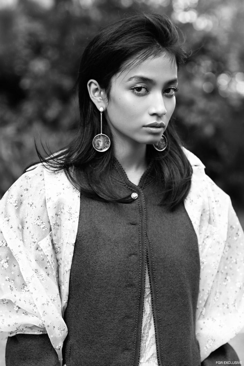 Jumpsuit Hemant & Nandita, Blazer Calvin Vintage, Jacket Aniket Satam and Earring Box Of Hues. Photo: Kay Sukumar