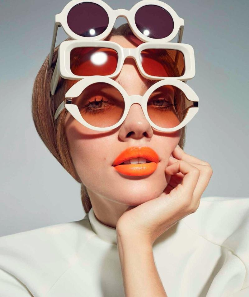 Tanya Kizko Models Eye-Catching Beauty for Harper's Bazaar Mexico