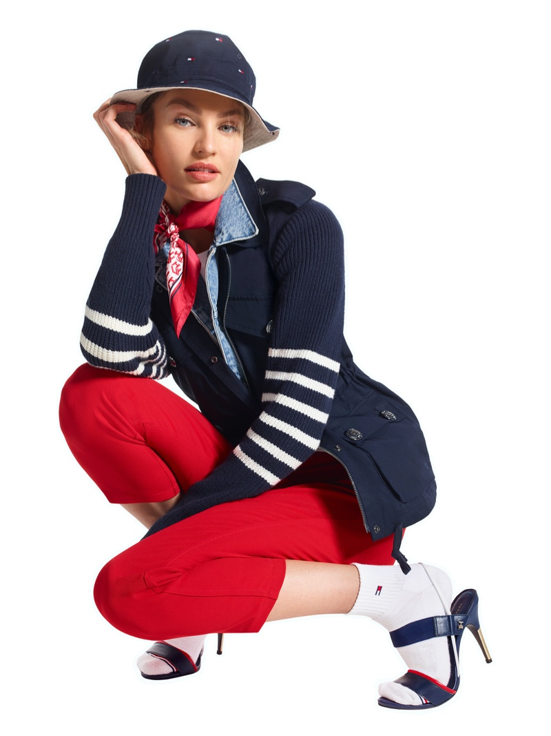 Candice Swanepoel appears in Tommy Hilfiger Icons spring-summer 2020 campaign