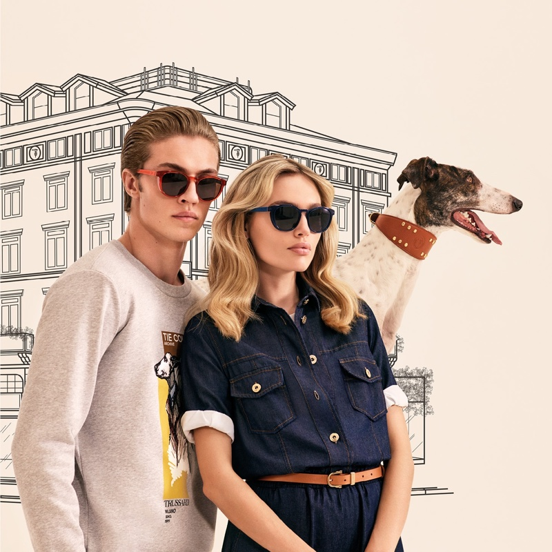 Trussardi features illustrations in spring-summer 2020 campaign