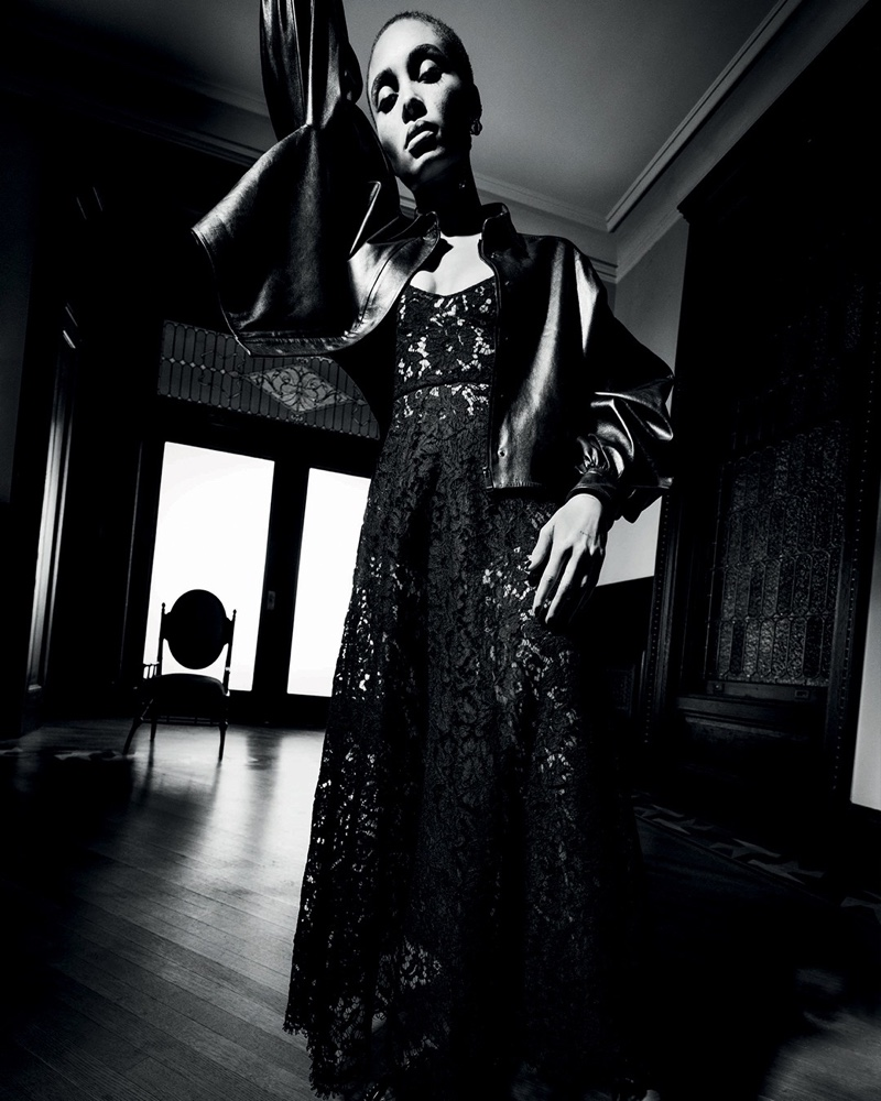 An image from Valentino's Le Noir spring 2020 advertising campaign