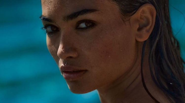 Model Kelly Gale poses for Victoria's Secret Very Sexy Sea fragrance campaign