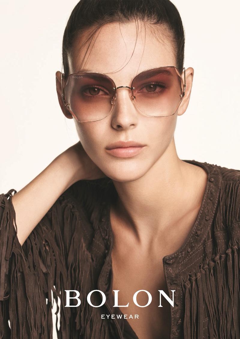 Model Vittoria Ceretti fronts Bolon Eyewear spring-summer 2020 campaign