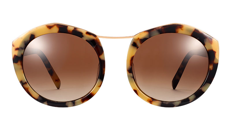 Warby Parker Bettina Sunglasses in Marzipan Tortoise with Polished Gold $145