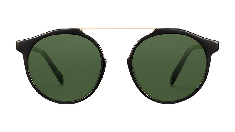 Warby Parker Cooper Sunglasses in Jet Black with Riesling $145