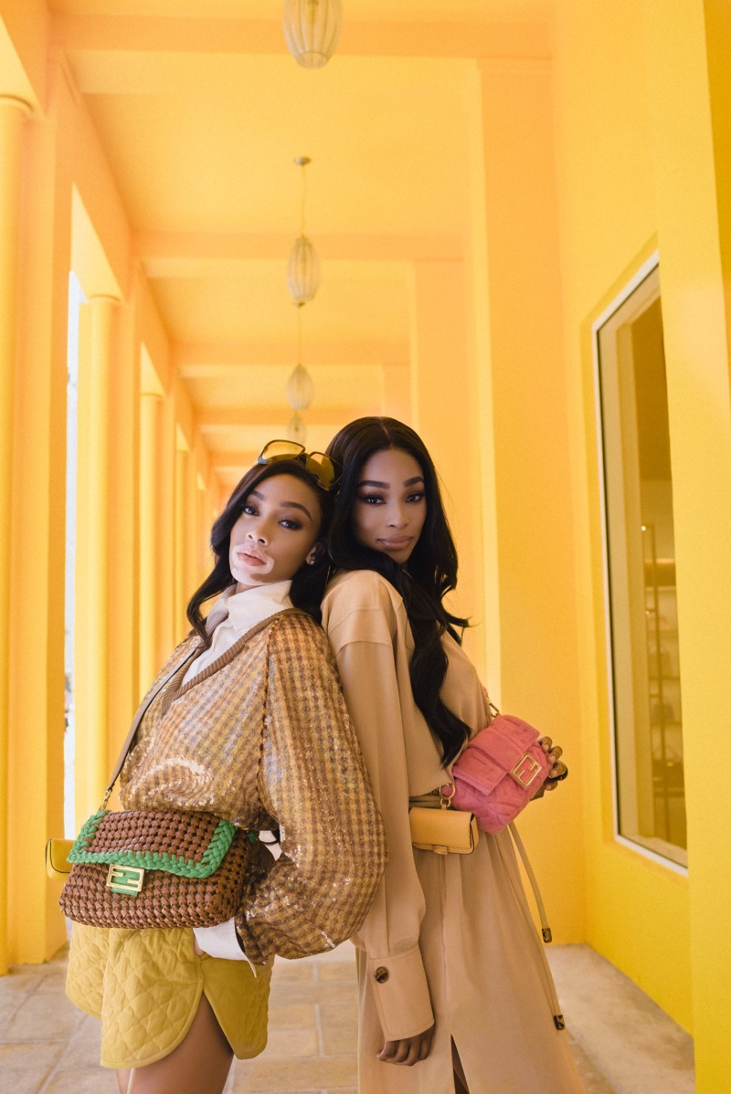 Models Winnie Harlow and Shannon Hamilton star in Fendi #BaguetteFriendsForever campaign