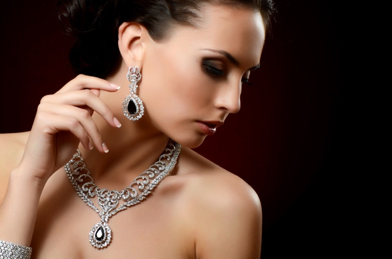 Woman Vintage Looking Jewelry Beauty