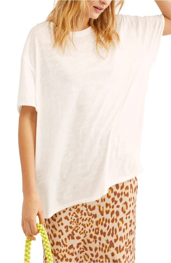 Women's Free People Clarity Tee, Size X-Small - White