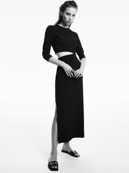 Zara Cut Out Maxi Dress and Leather Sandals