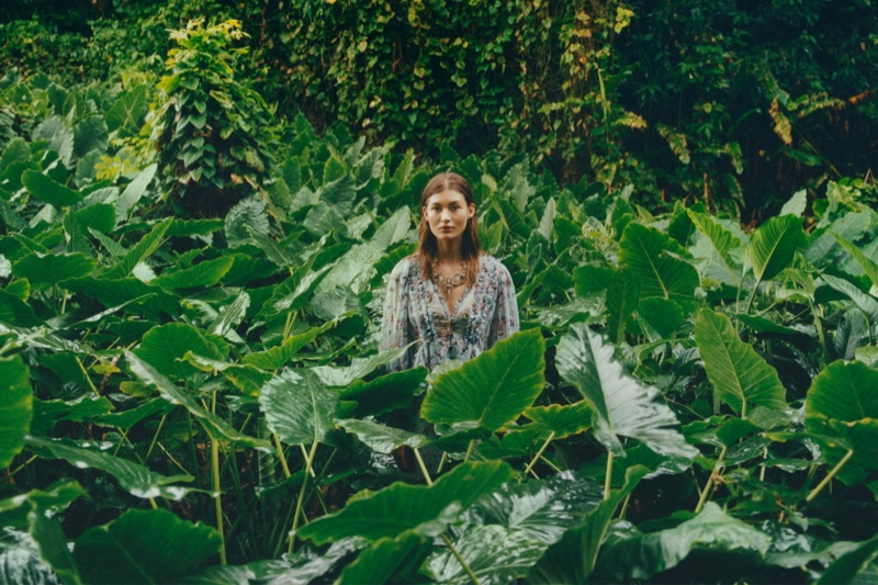 Grace Elizabeth stars in Zara Lost Garden spring-summer 2020 editorial
