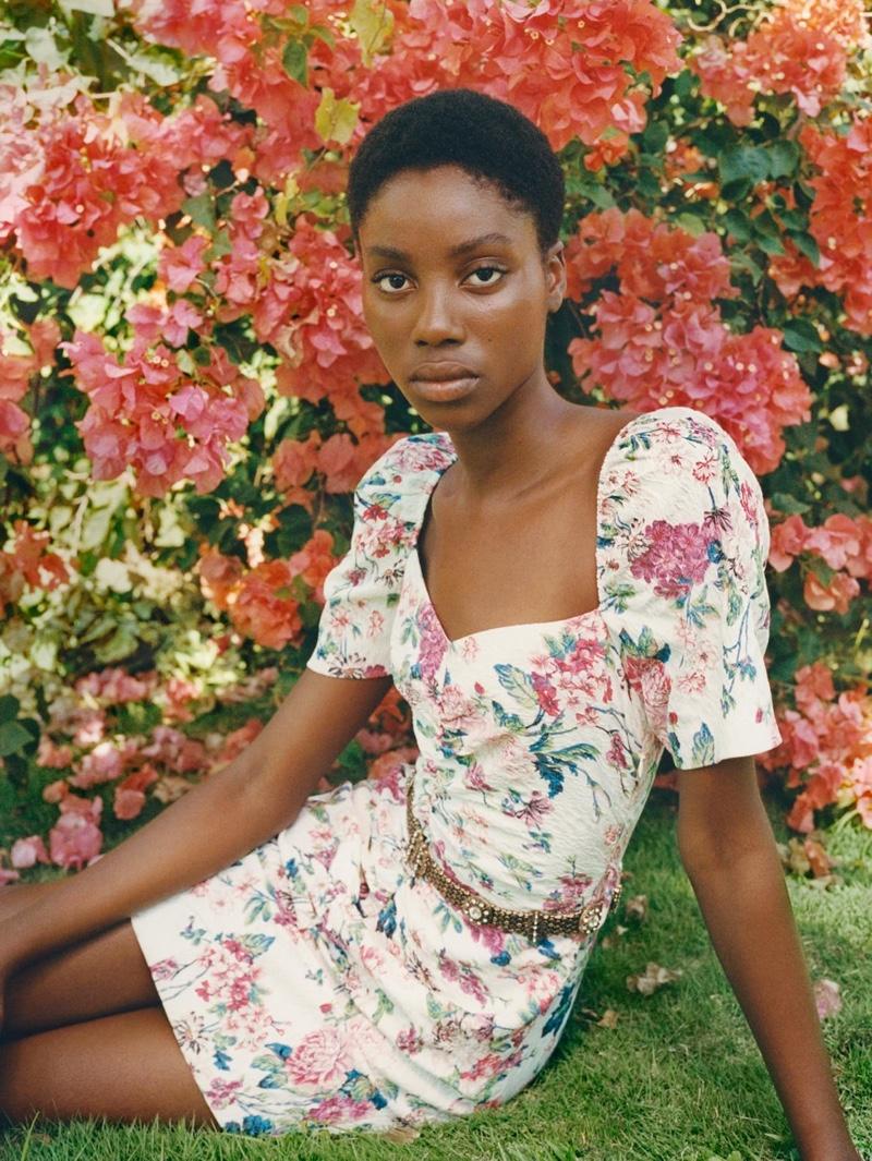 Zara Belted Floral Dress