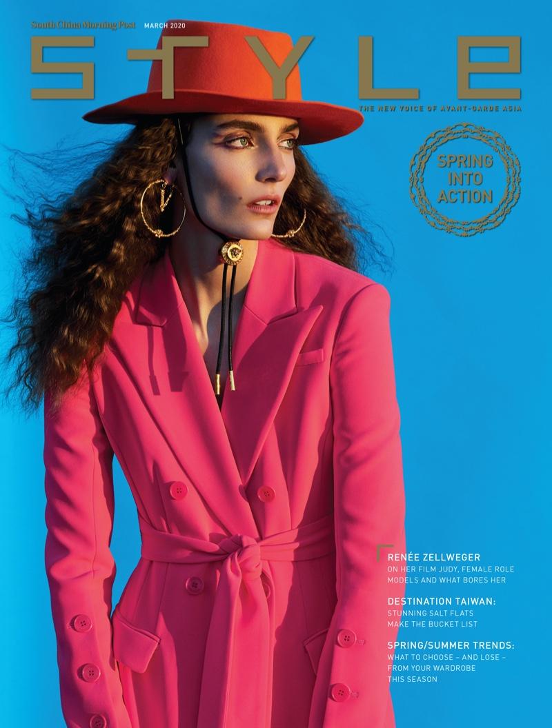 Zuzanna Bijoch Models Vibrant Fashions for SCMP Style